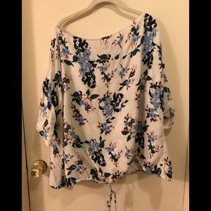 Lucky Brand flower print shirt 3x